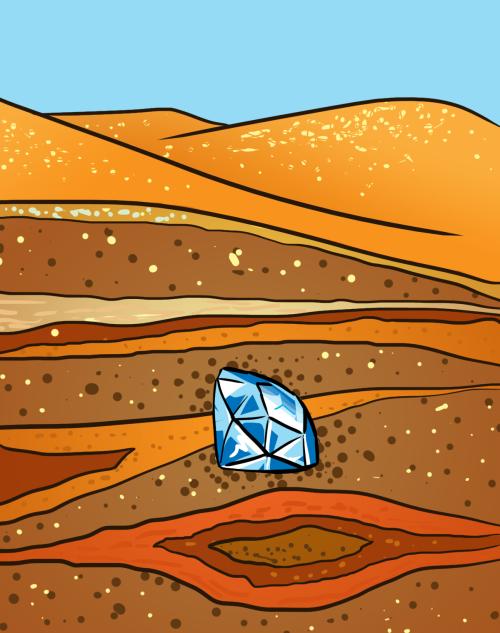 Diamond Landscape Cutaway